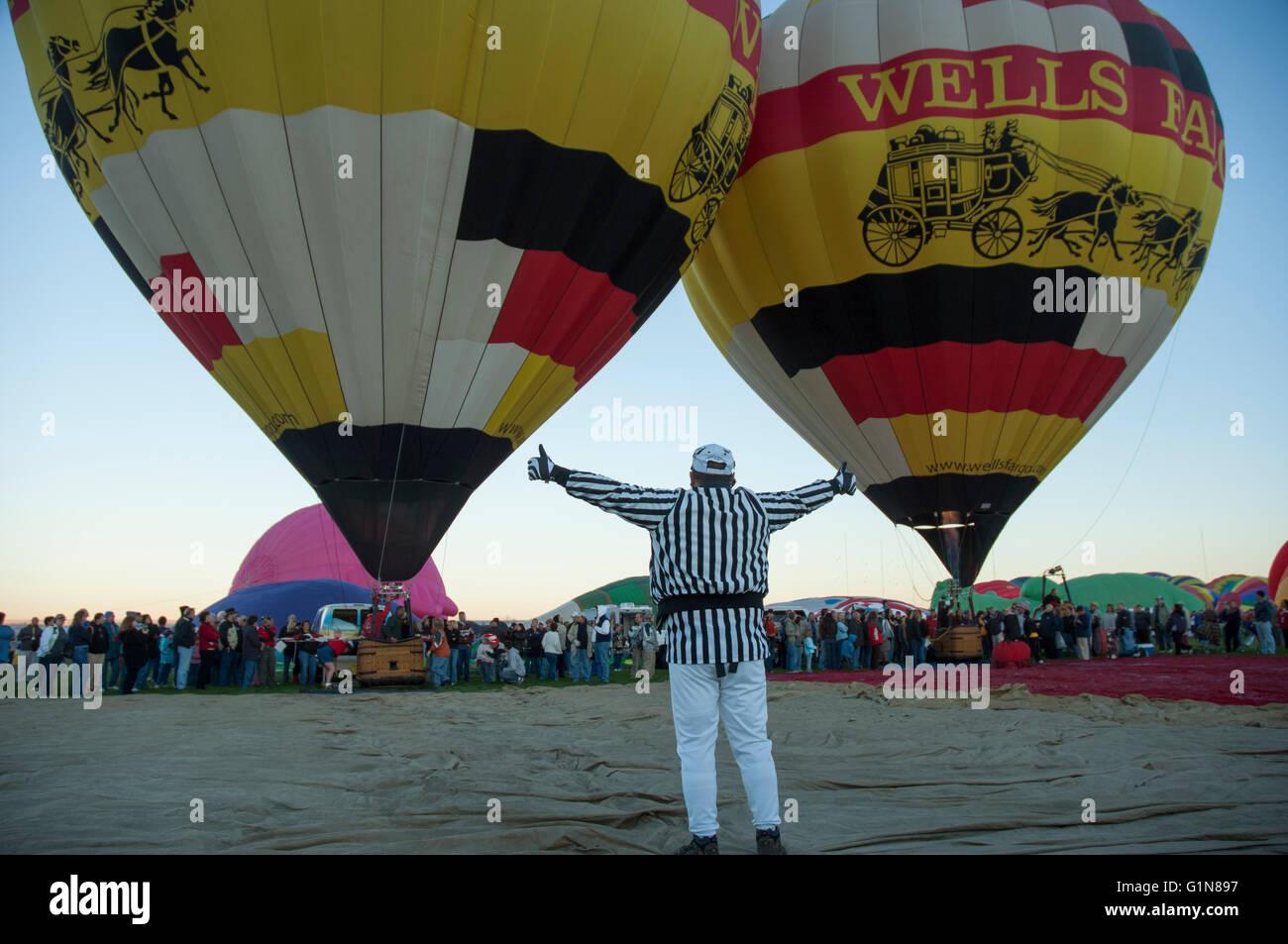 I palloni ad aria calda a Balloon Fiesta di Albuquerque nel New Mexico, U.S. Foto Stock