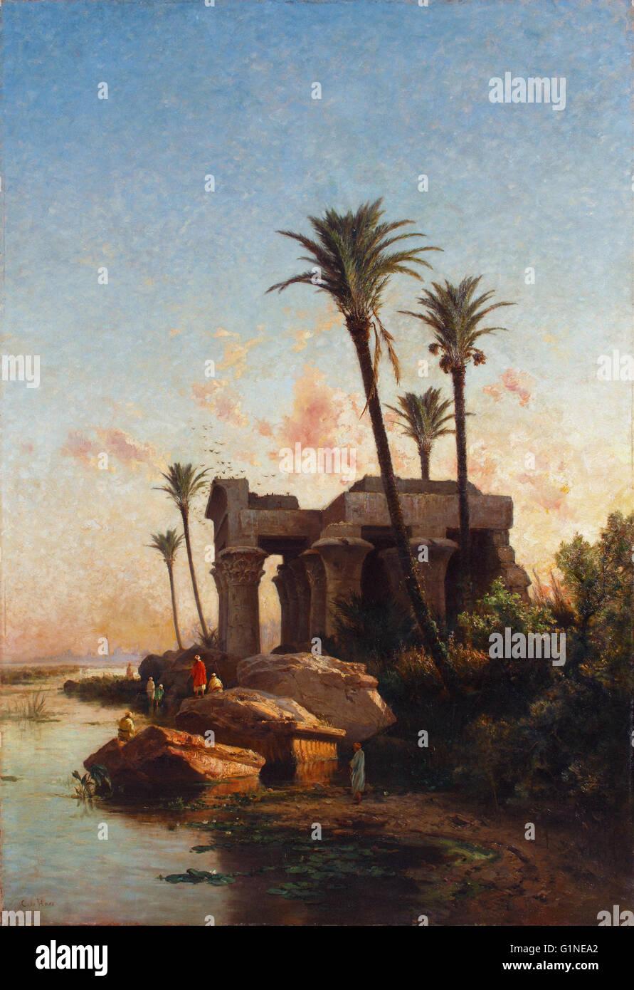 Carlos de Haes - Egypcian Paesaggio - Museo del Romanticismo, Madrid Immagini Stock
