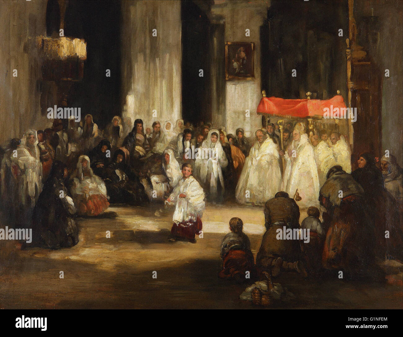 Leonardo Alenza - Grande Dio - Museo del Romanticismo, Madrid Immagini Stock