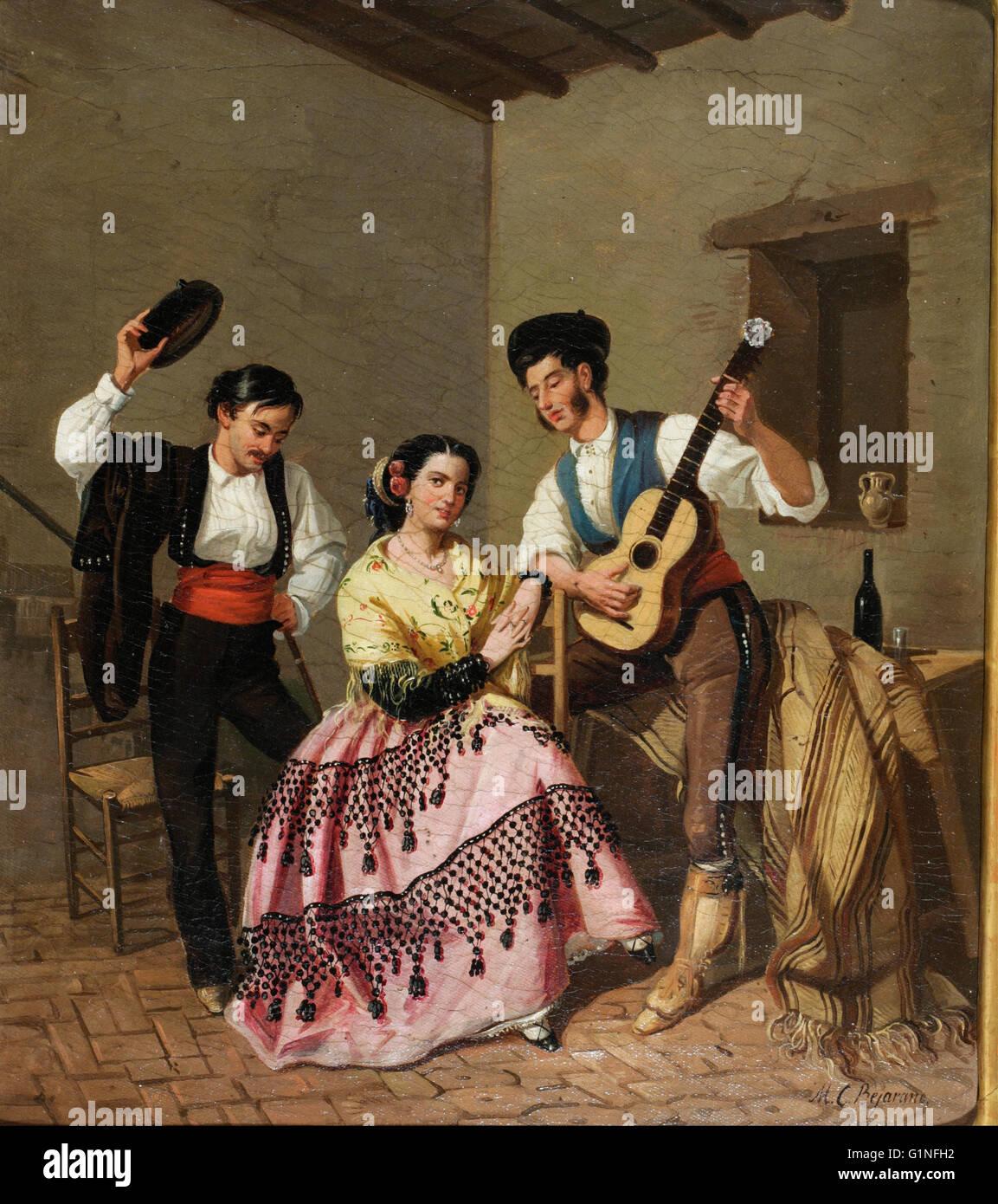Manuel Cabral - La copla - Museo del Romanticismo, Madrid Immagini Stock