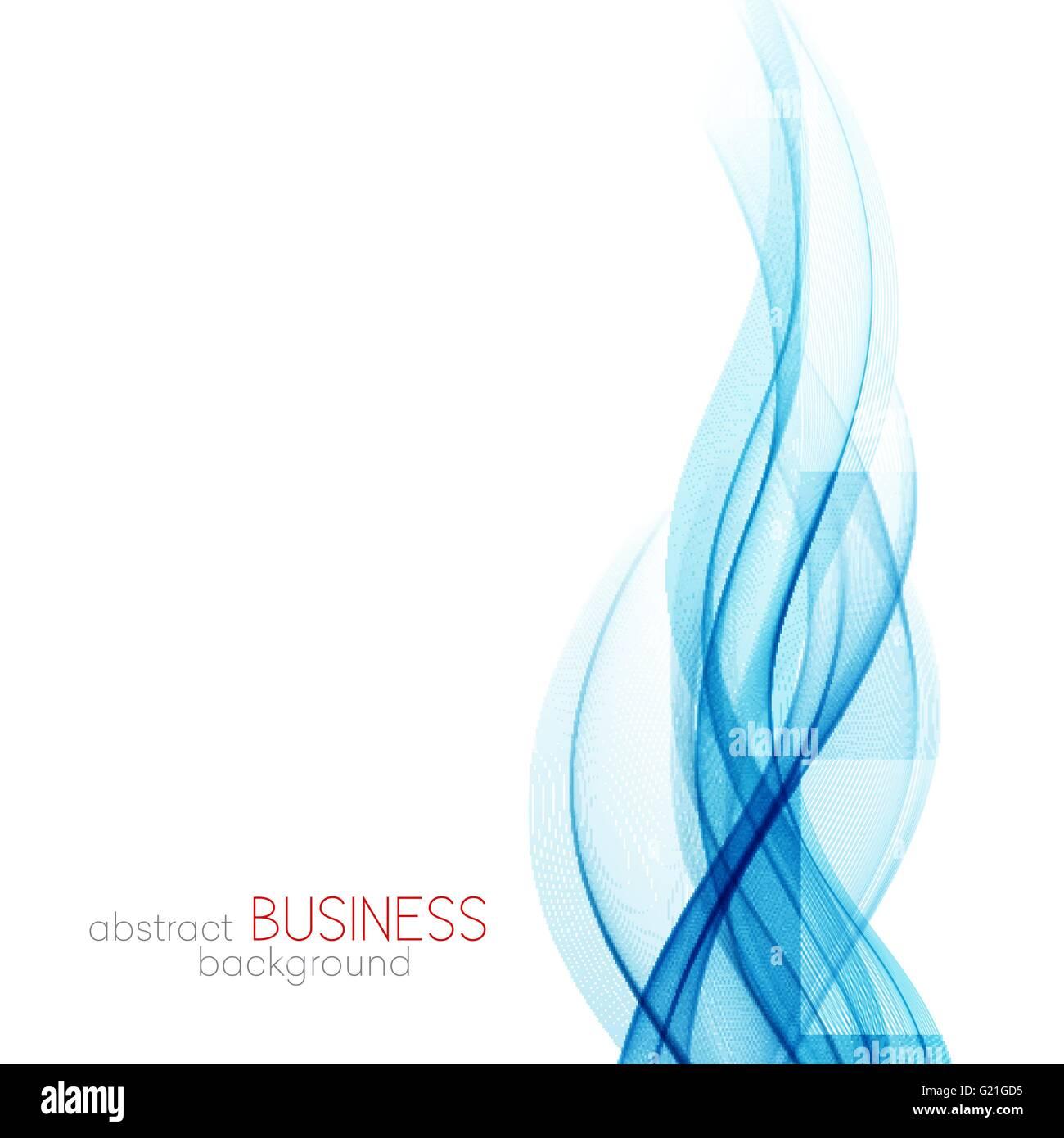 Vettore Astratto Sfondo Blu Trasparente Linee Ondulata Per Brochure