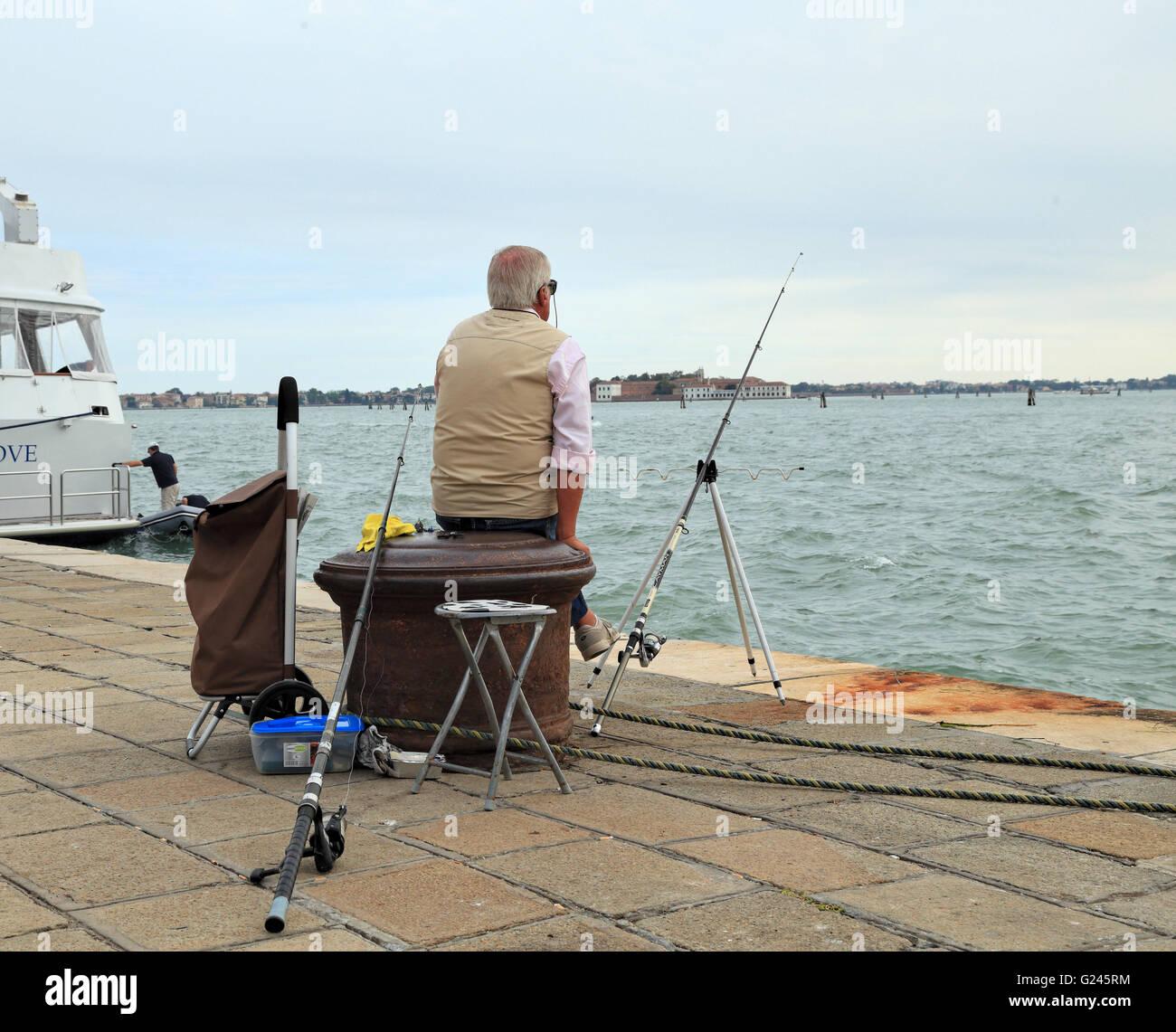 Locale pesca veneziano a Riva dei Sette Martiri Immagini Stock