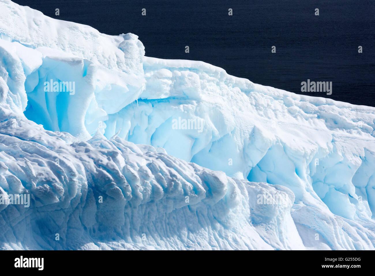 Forme di ghiaccio isola Yalour, Antartide Foto Stock