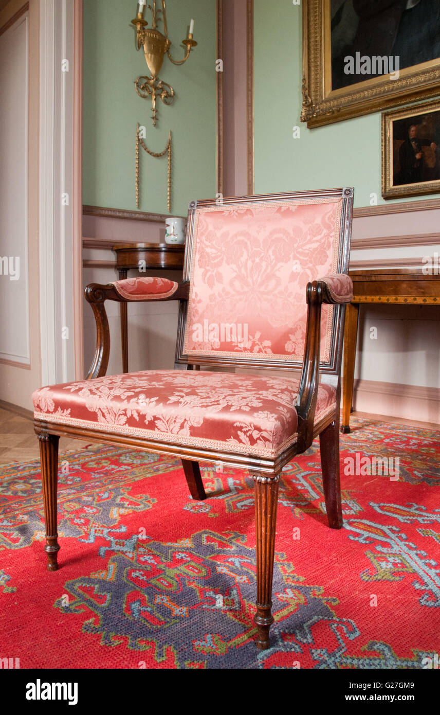 Chippendale mobili parte della collezione in Paxton House Immagini Stock
