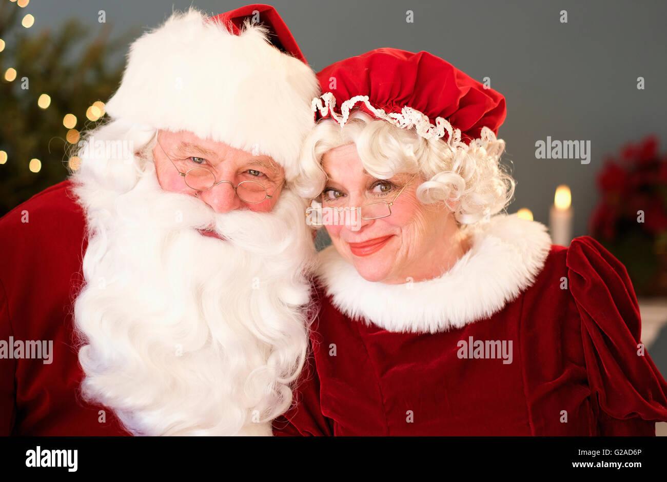 Ritratto di Santa e la sig.ra Claus Immagini Stock