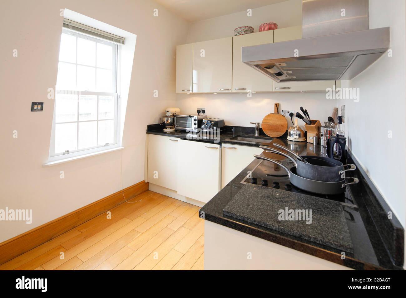 Inverness Terrace. Pulire contemporanea cucina con pavimento in ...