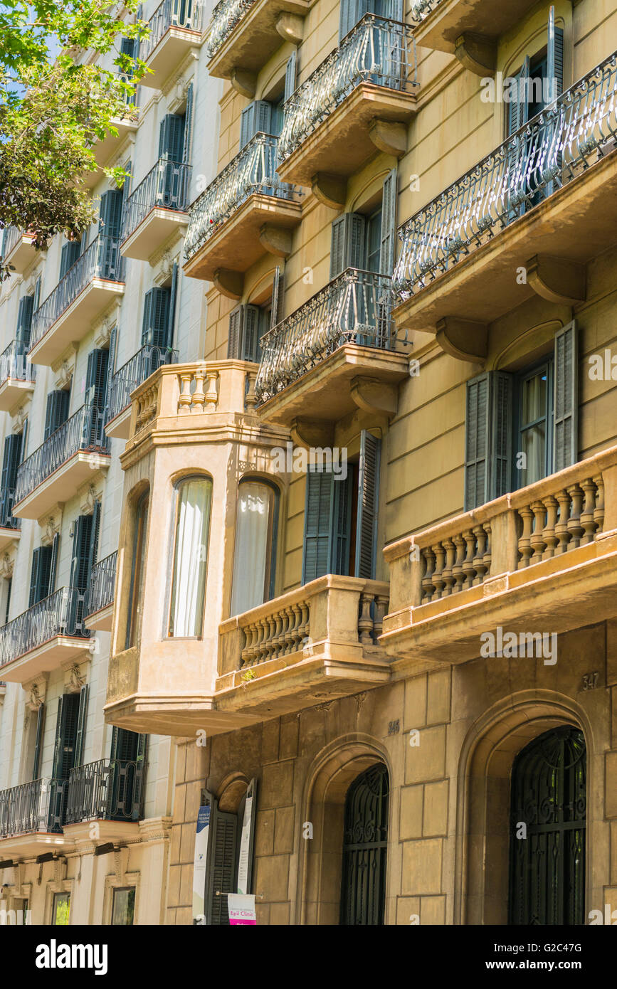 Spagna catalogna barcellona tipico blocco di appartamenti for Foto di appartamenti arredati