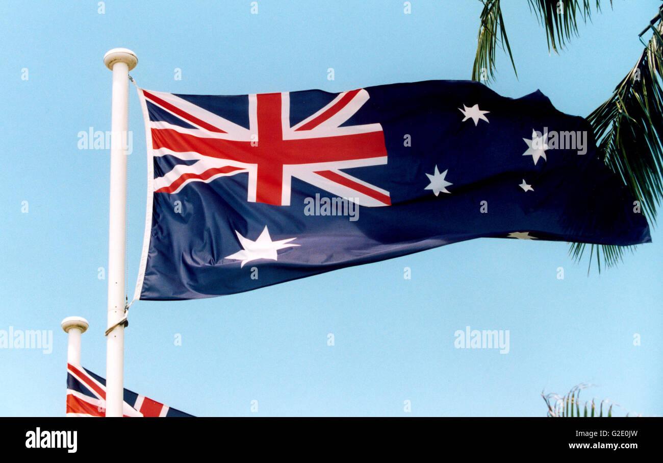 Bandierina dell'Australia Immagini Stock