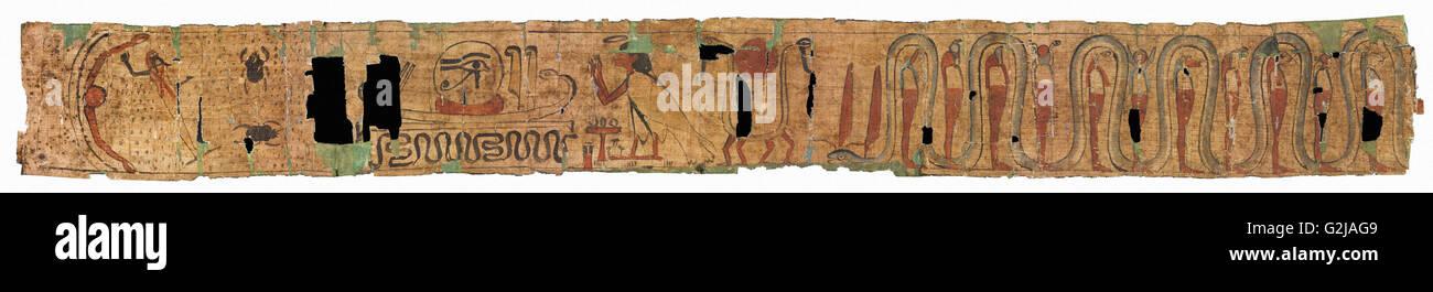 Papiro funerario - Museo di Belle Arti di Budapest Immagini Stock