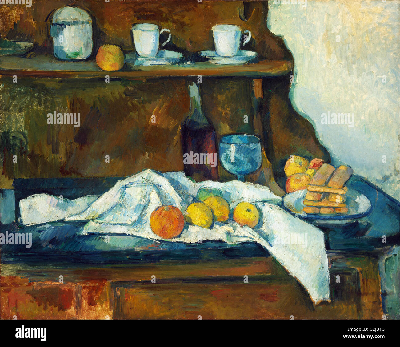 Paul Cézanne - Il Buffet - Museo di Belle Arti di Budapest Immagini Stock