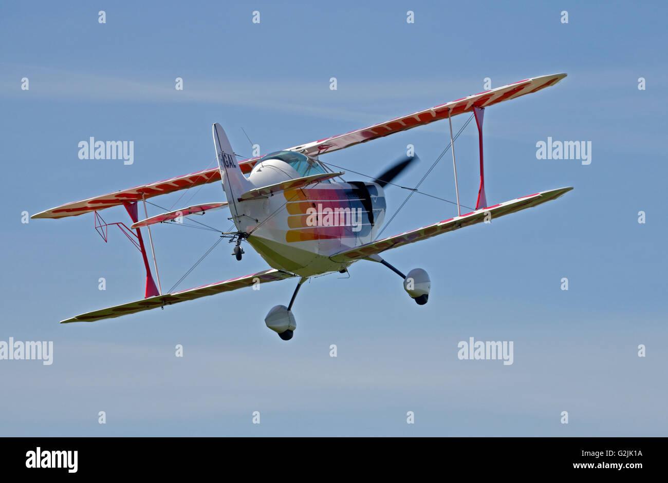 Chisten Eagle II Biplano, Goodwood Aerodrome, West Sussex, in Inghilterra Immagini Stock