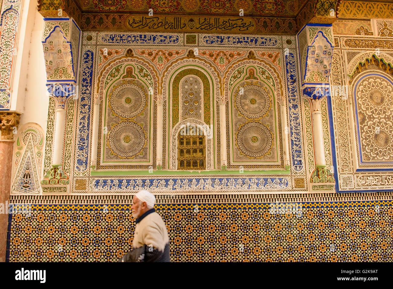 Piastrelle decorative lavorare sull esterno della moschea medina