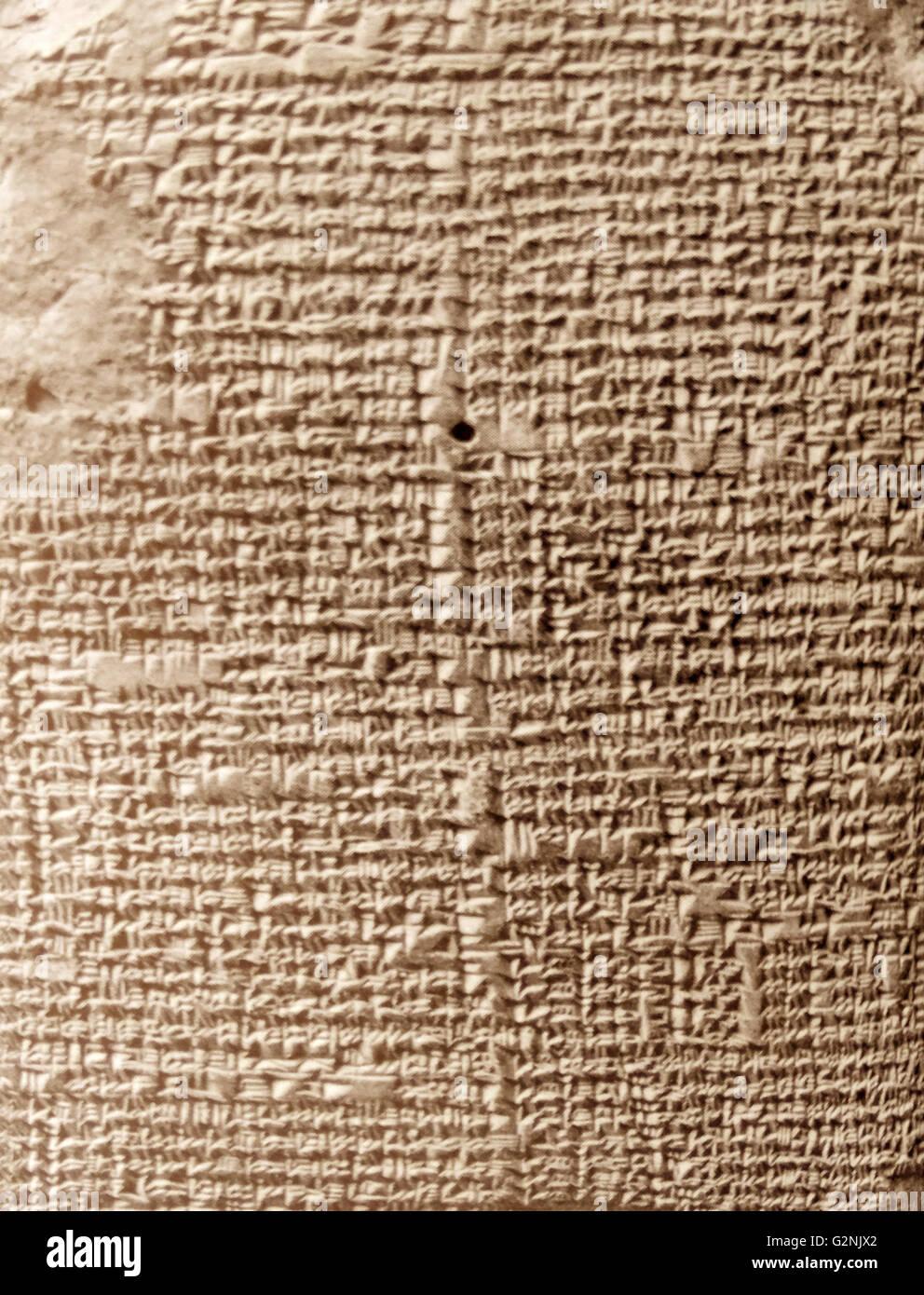 Un babilonese di trattato di astronomia. Immagini Stock