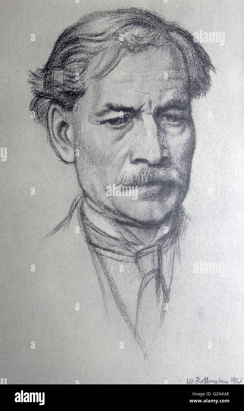 Ritratto di destra onorevole J. Ramsay MacDonald Immagini Stock