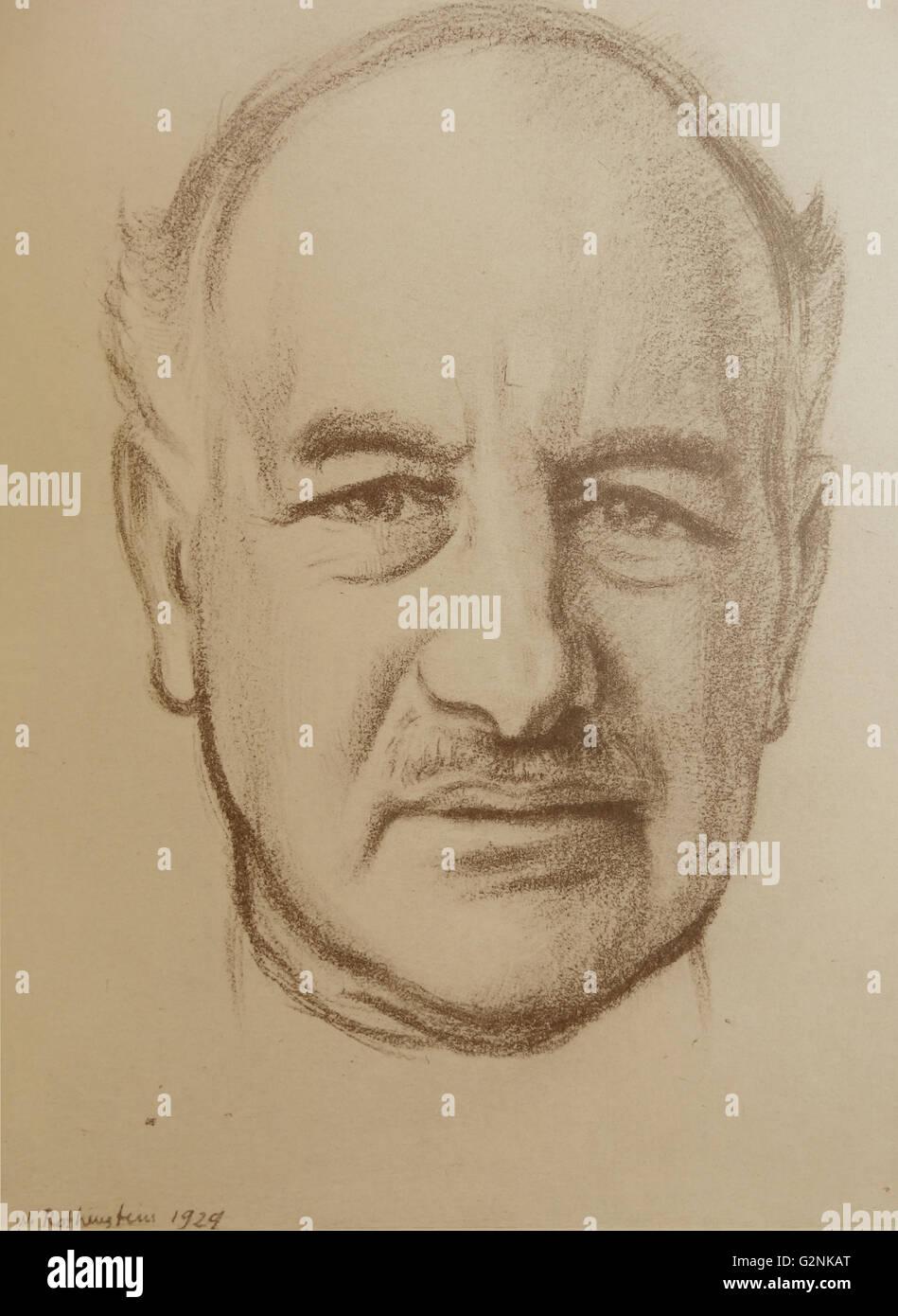 Ritratto di destra onorevole Lord Melchett di a Landford Immagini Stock