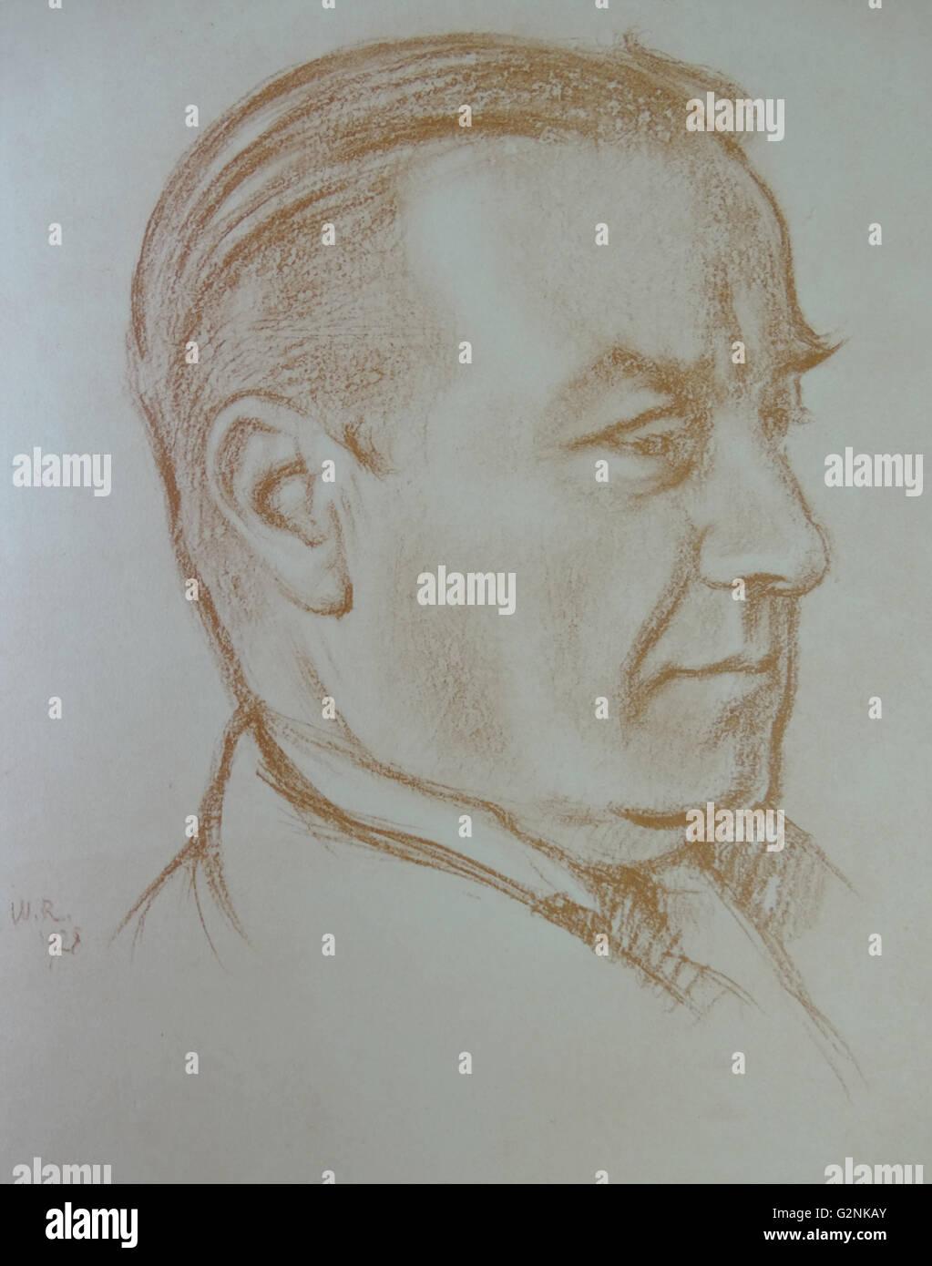 Ritratto di destra onorevole Stanley Baldwin Immagini Stock