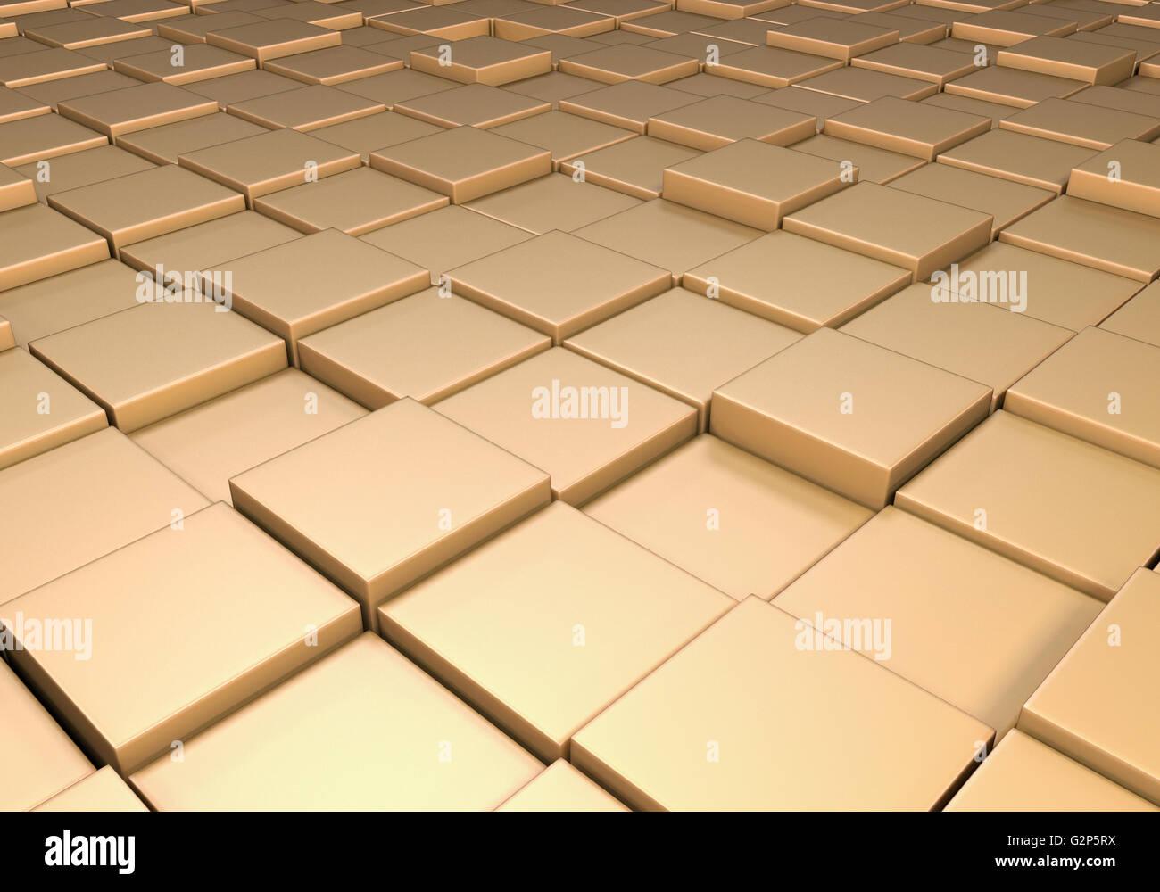 Campo di riflettente metallico piastrelle di oro o di cubetti ad