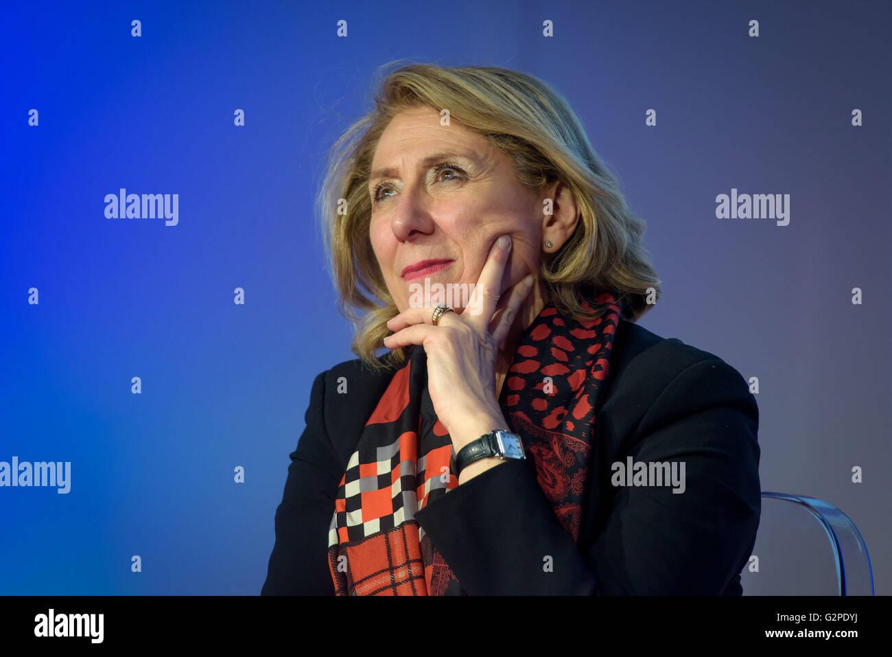 Giovanna Milella Presidente della Fiera del Libro di Torino Immagini Stock