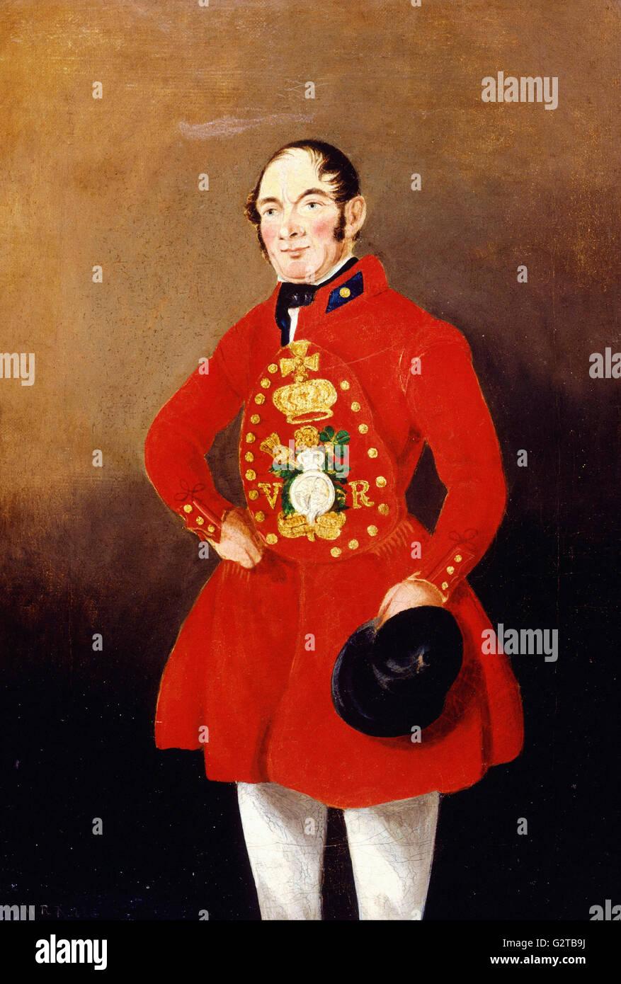 Nobile, W.R. - Pittura; olio su tela - Ritratto di un Royal Bargeman - Immagini Stock