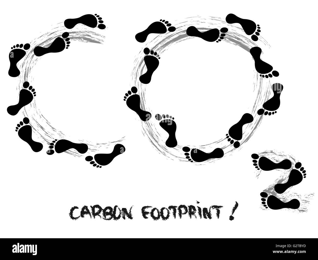 Impronta di carbonio simbolo Immagini Stock
