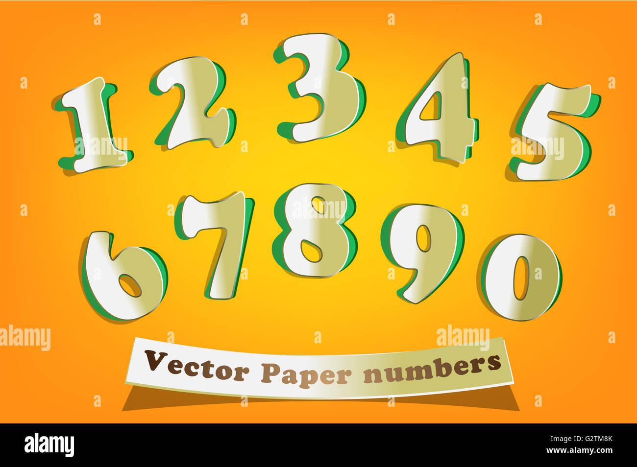 Vettore Di Numeri Immagini Vettore Di Numeri Fotos Stock Alamy