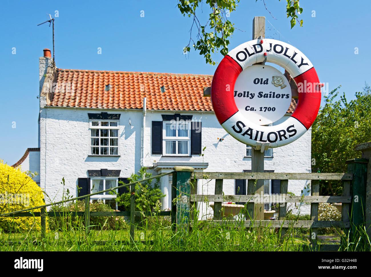 Casa - una volta che il Jolly Sailor pub - a Fishtoft, nei pressi di Boston, Lincolnshire, England Regno Unito Immagini Stock