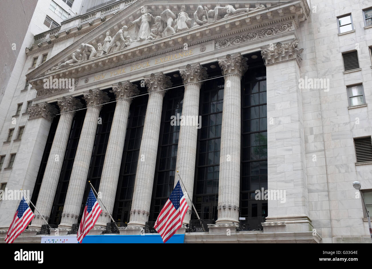New York Stock Exchange, New York City, Stati Uniti d'America Immagini Stock