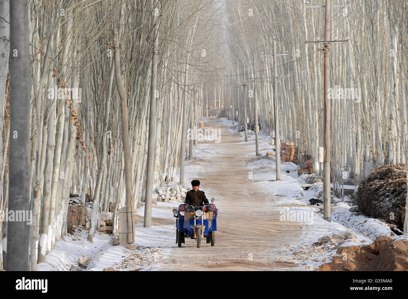 La provincia cinese dello Xinjiang, uighur città Opal vicino a Kashgar / Cina Provinz Xinjiang, uigurische Immagini Stock