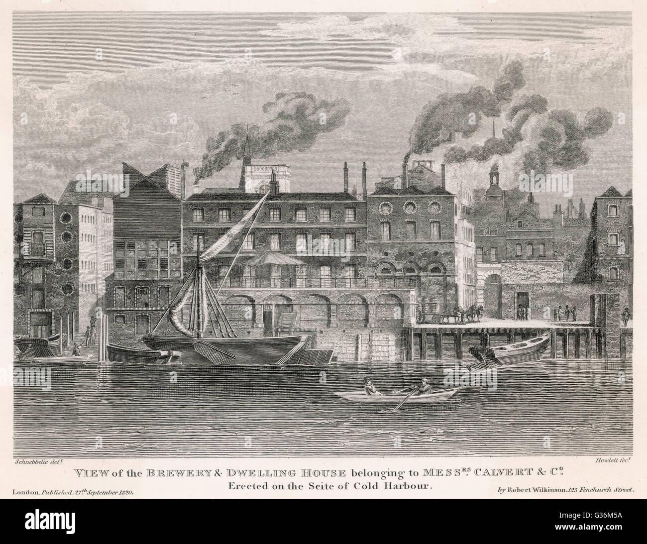 Calvert's Brewery, Londra vista esterna ; eretto sul sito del Porto di freddo data: 1820 Immagini Stock