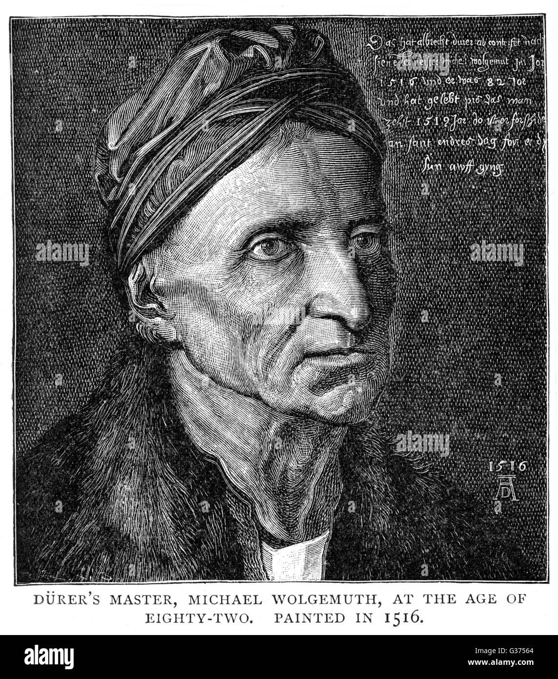 MICHAEL WOLGEMUTH artista tedesco, master di Albrecht Durer data: 1434 - 1519 Immagini Stock