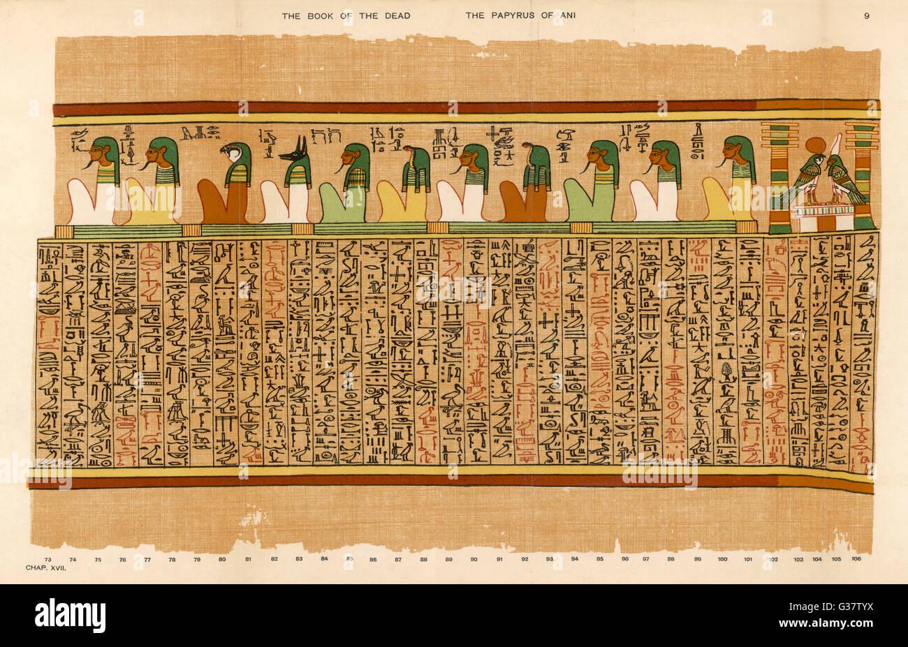 1. Undici delle divinità e le sette divinità identificata con le sette stelle della costellazione del grande orso. Foto Stock
