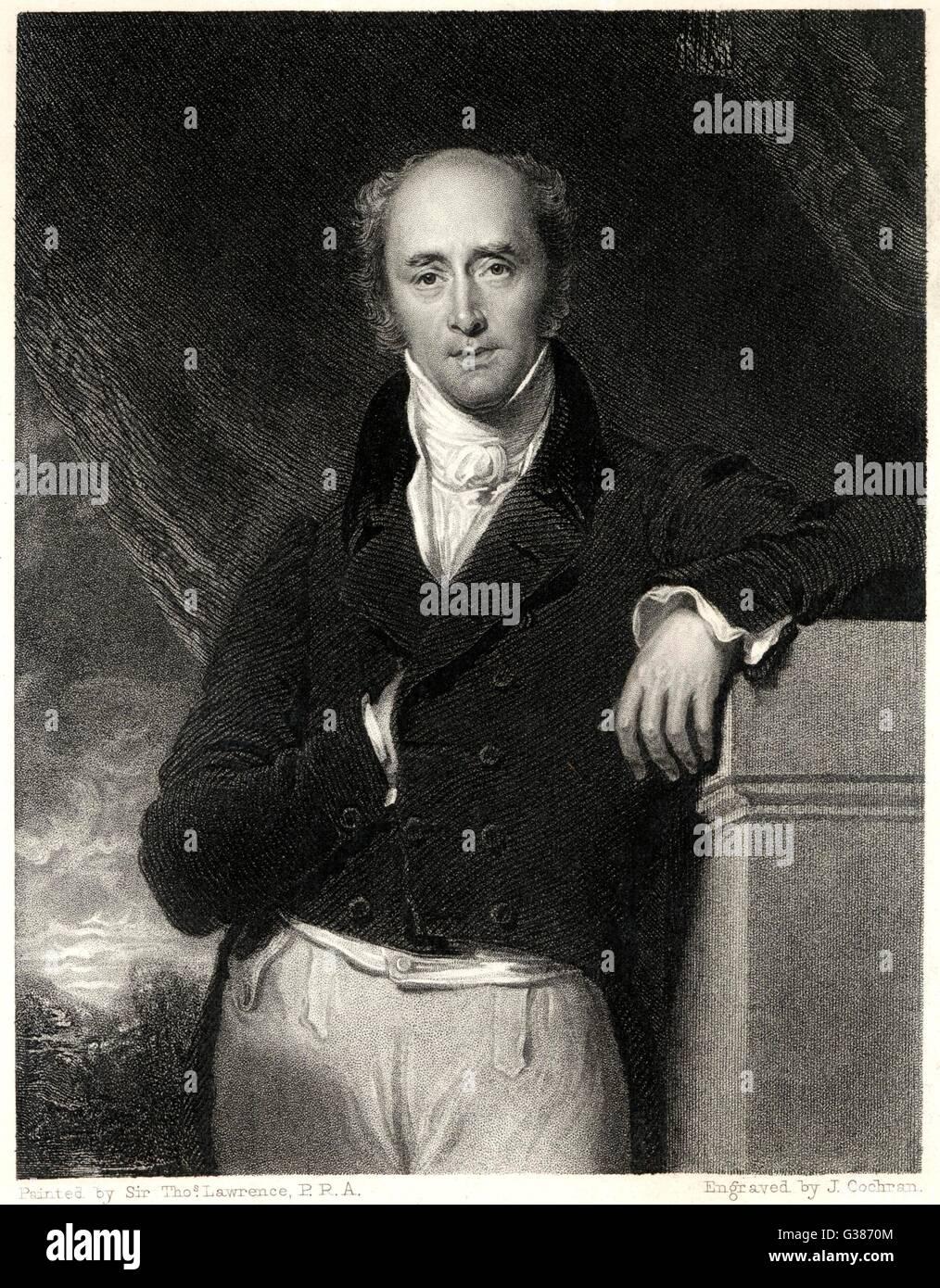 Diritto onorevoli Charles Grey 2ND Earl Grey membro del Parlamento data: 1764 - 1845 Immagini Stock