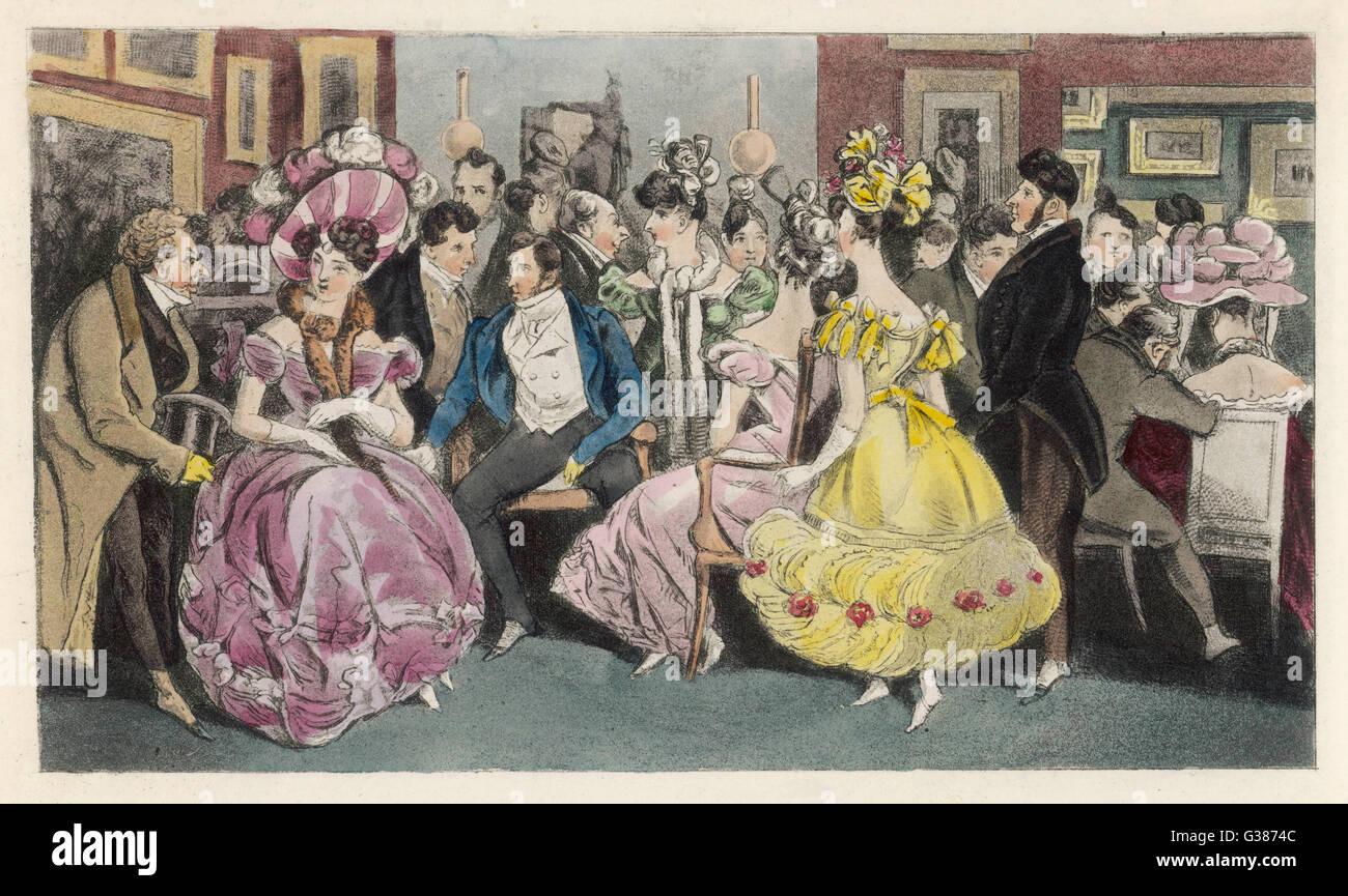 Un salone di Parigi data: 1826 Foto Stock