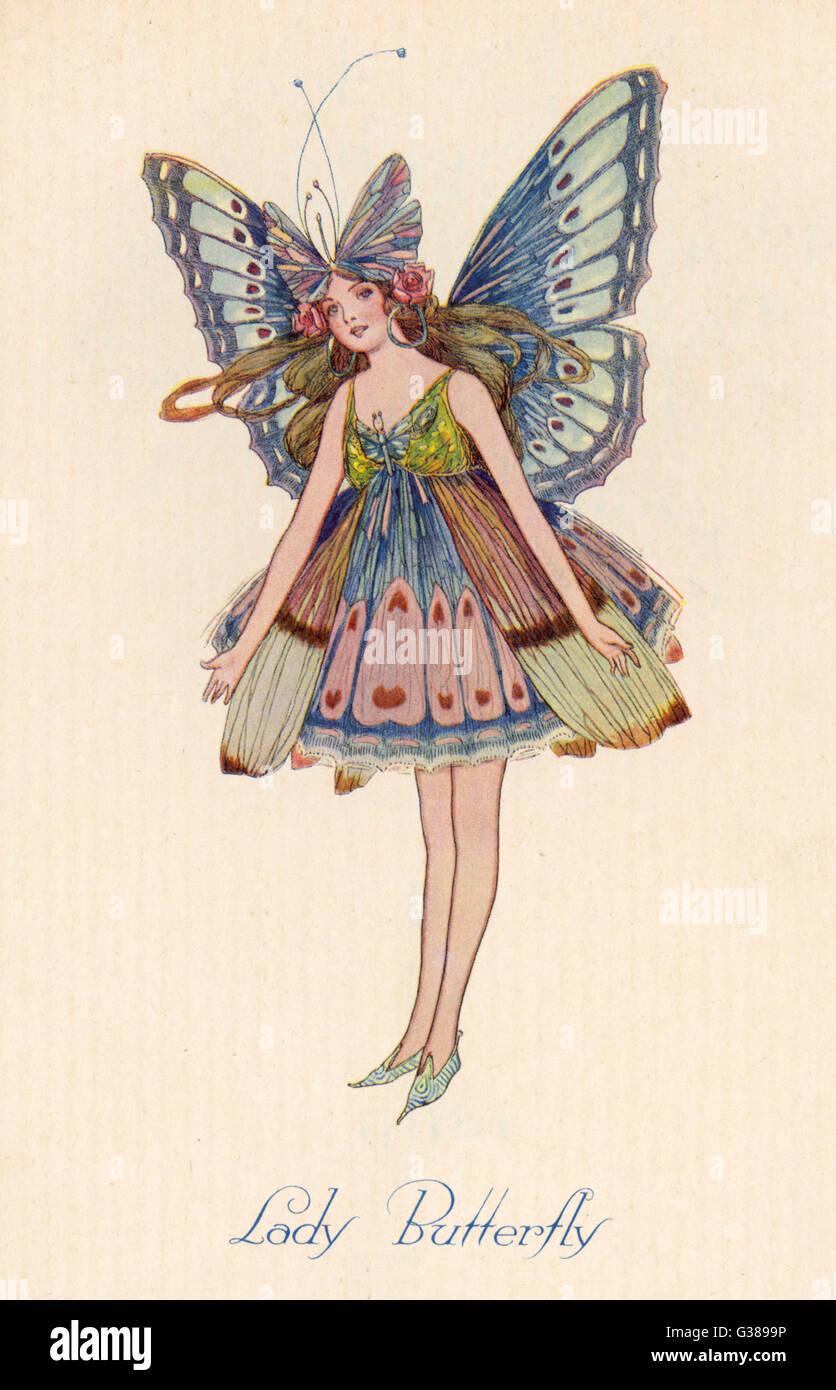 Una farfalla fata Immagini Stock