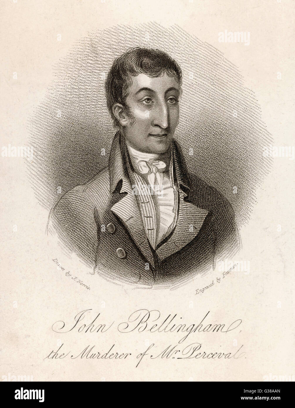 John Bellingham - Spencer Perceval della killer data: 1812 Immagini Stock
