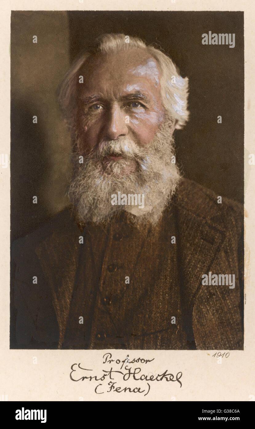 ERNST HAECKEL scienziato tedesco in età di 75 data: 1834 - 1919 Immagini Stock