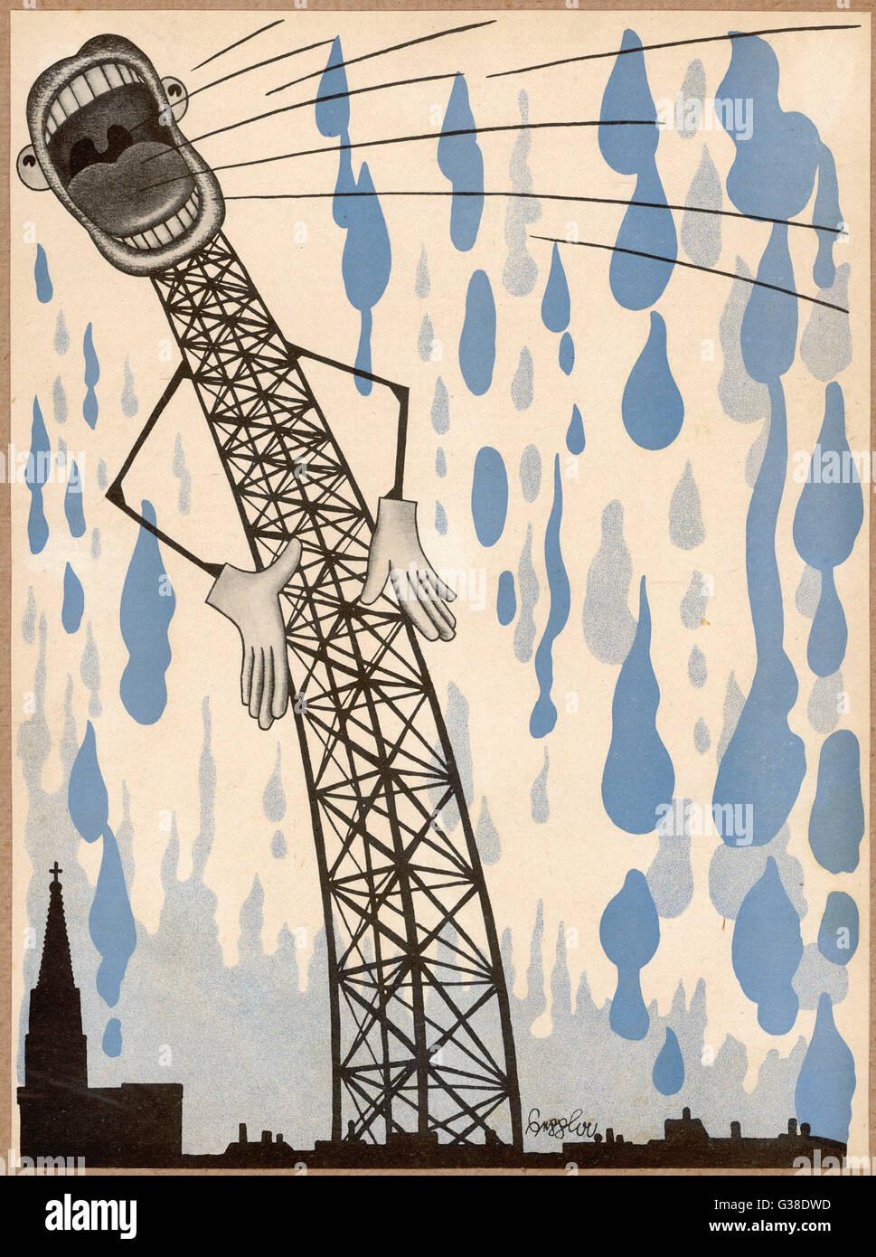 La radio si trova sono sufficienti per rendere i cieli piangono ! Data: 1933 Immagini Stock
