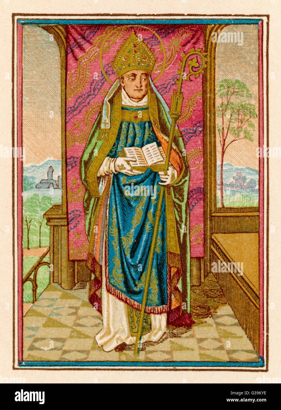 Un Vescovo del Medioevo Data: medievale Immagini Stock