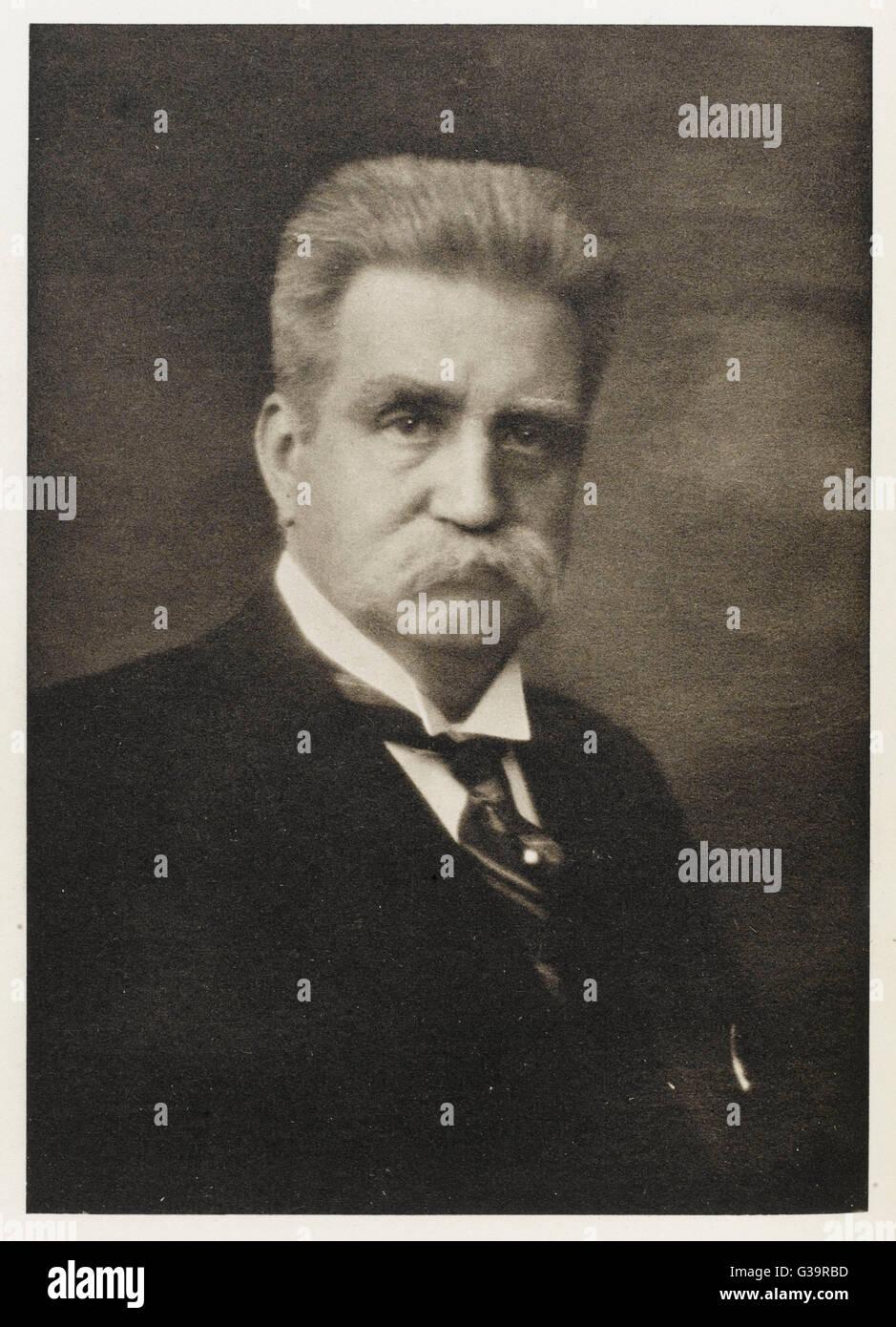 KARL Hjalmar Branting statista svedese e pacifista data: 1860 - 1925 Immagini Stock