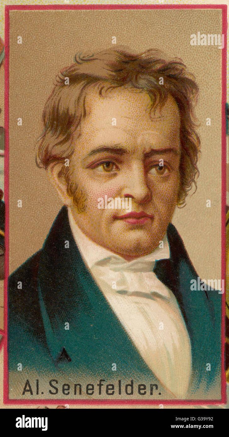 ALOYS SENEFELDER inventore tedesco di litografia, nato a Praga data: 1771 - 1834 Immagini Stock