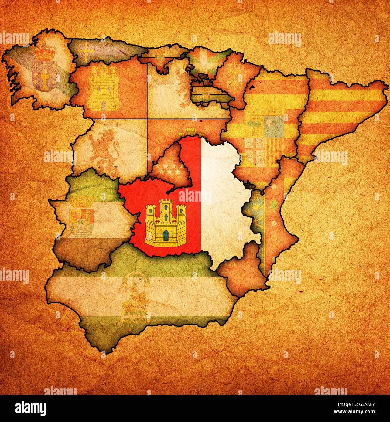 Cartina Delle Regioni Della Spagna