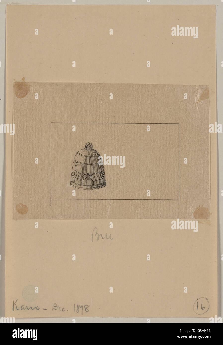 Beehive sagomato di lamiera oggetto. Data 1878 Dic. Immagini Stock