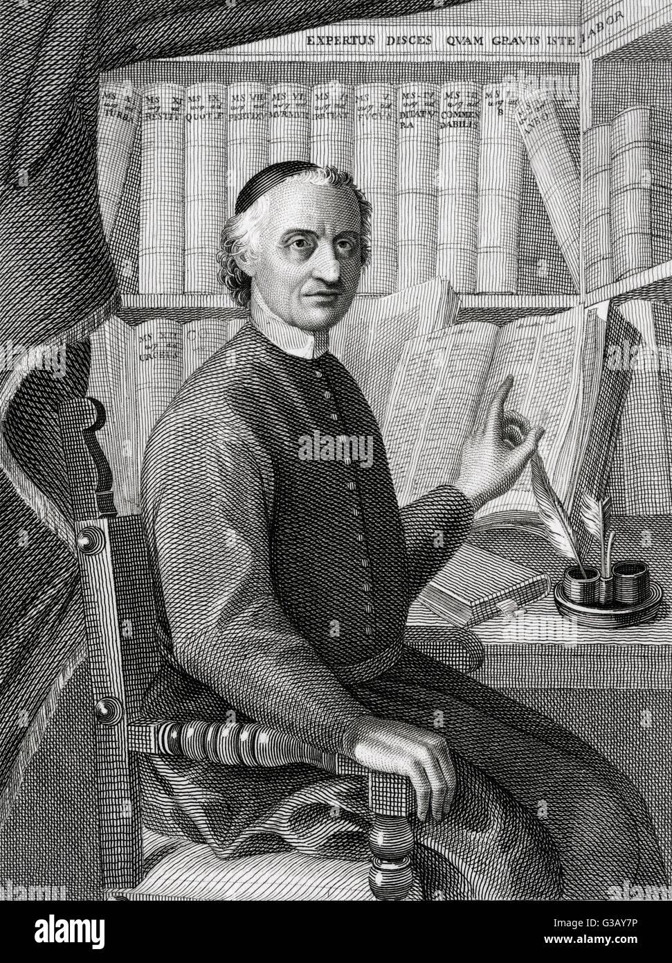 EGIDIO FORCELLINI lessicografo Italiano e filologo data: 1688 - 1768 Immagini Stock