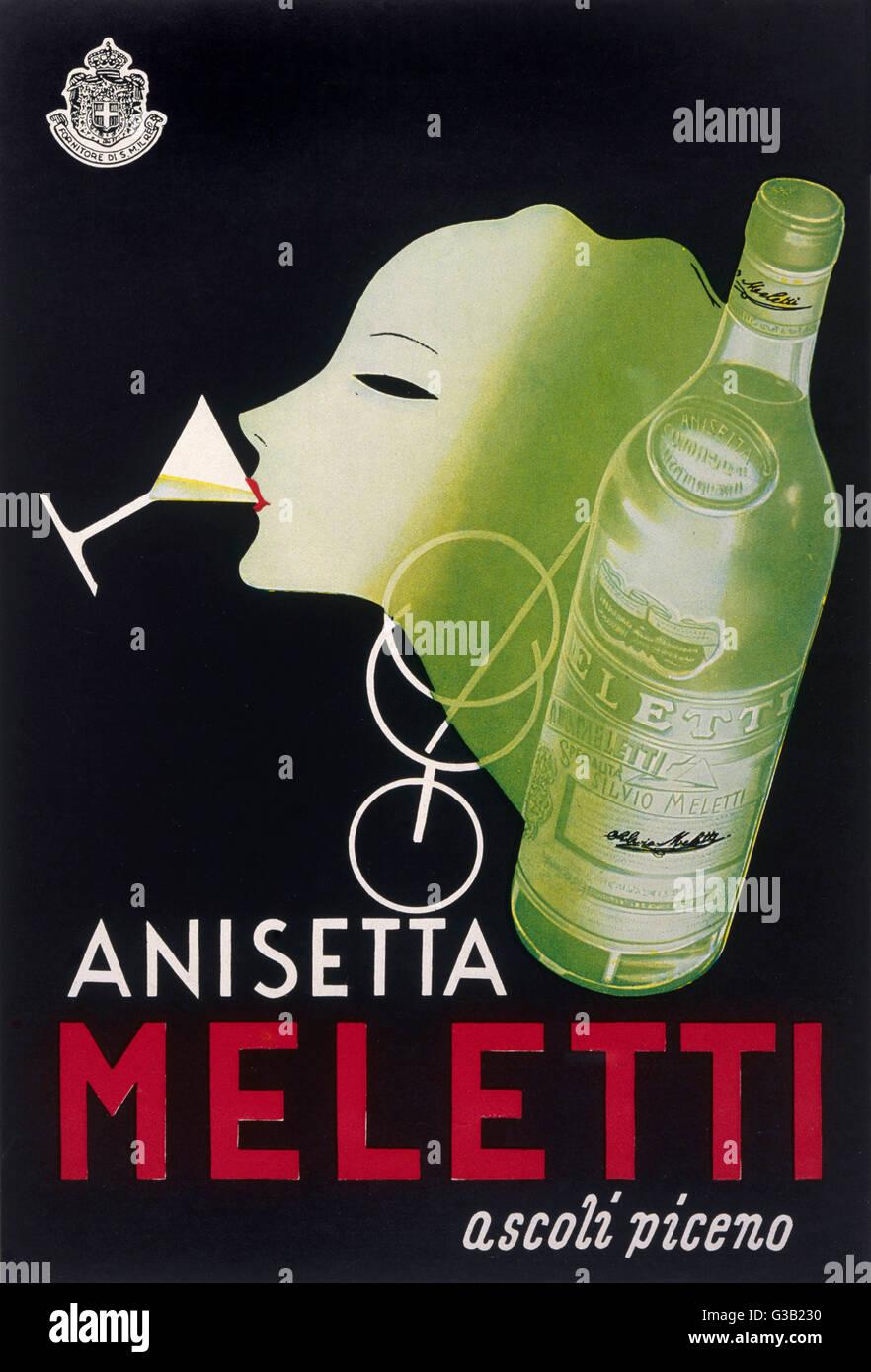 Anisetta Meletti data: 1940 Immagini Stock
