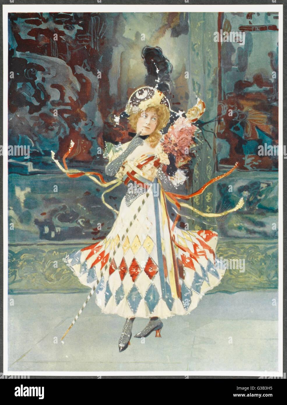 KATIE SEYMOUR attrice in 'Runaway Girl' Data: tardo XIX secolo Immagini Stock