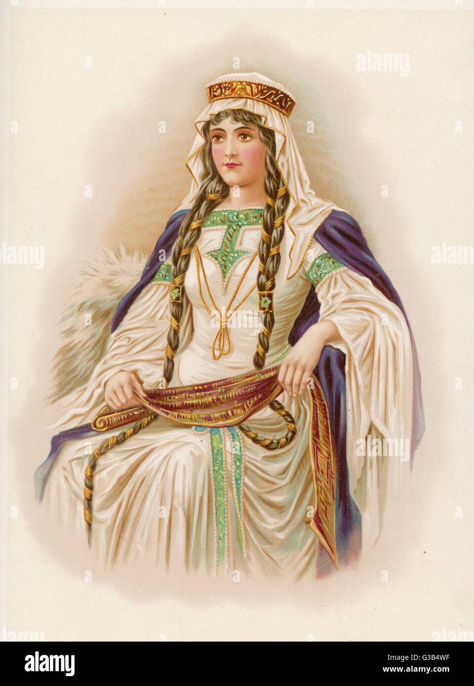 Una giovane donna della nobiltà Norman Data: xii secolo Immagini Stock