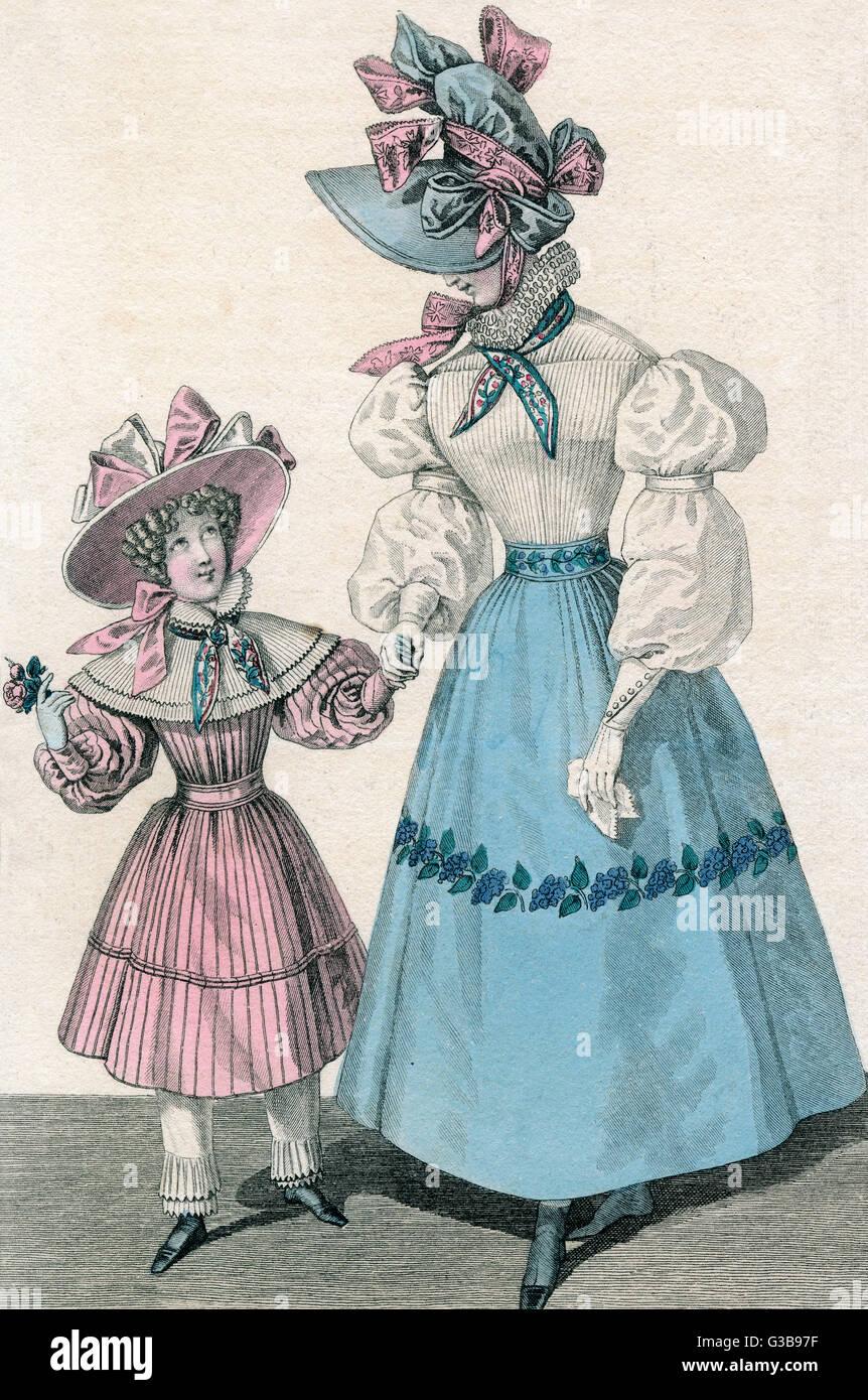 Ruff, fazzoletto, nastro ornato cofano, camicetta con maniche contenuta nella parte superiore del braccio da una Immagini Stock