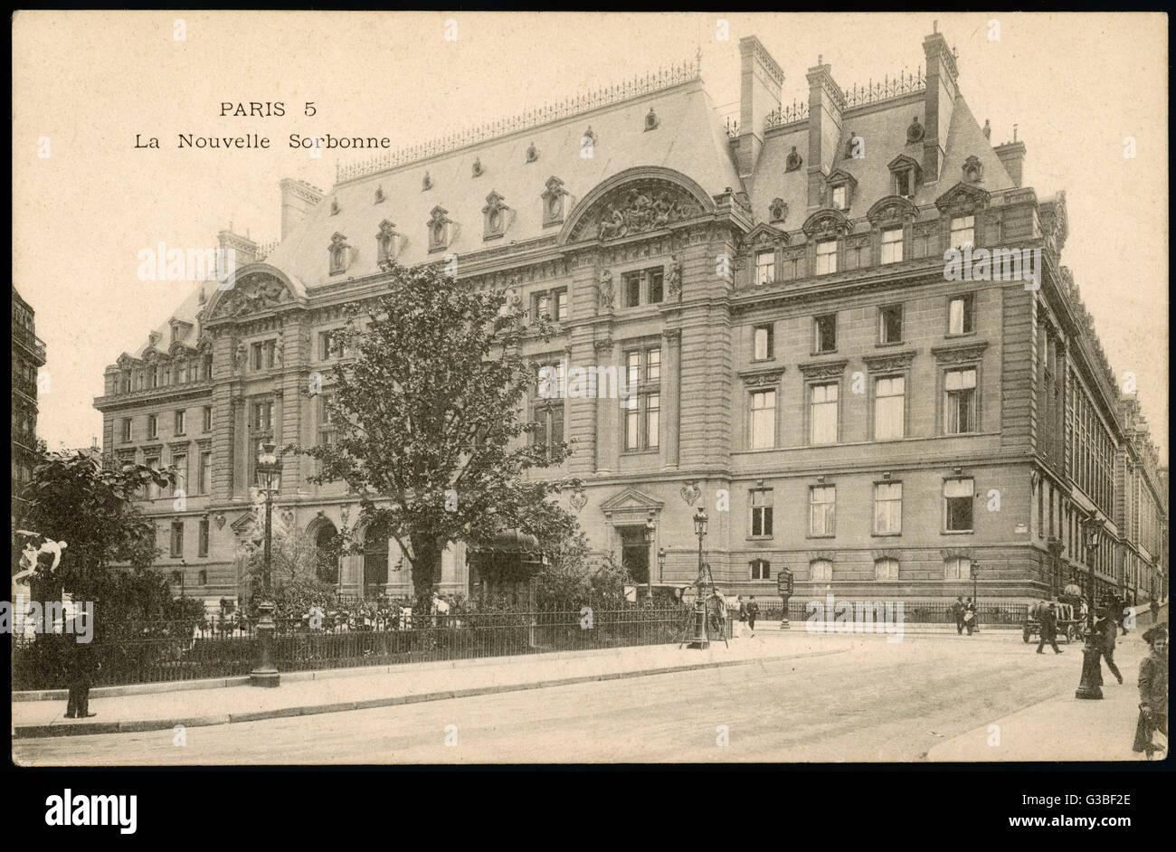 La Sorbona di Parigi: vista esterna. Data: 1905 Immagini Stock