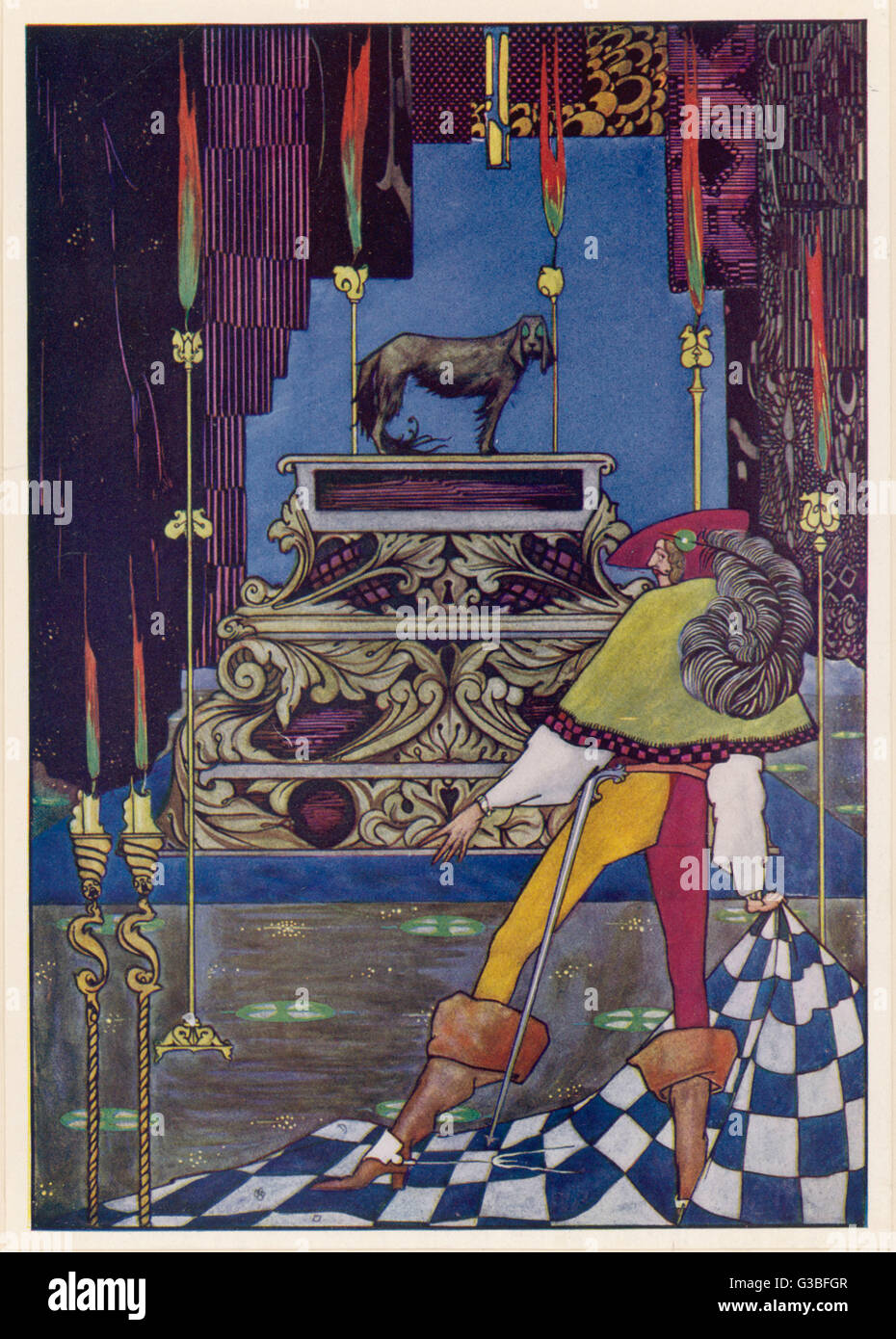 Illustrazione per la fiaba di Hans Andersen. Immagini Stock