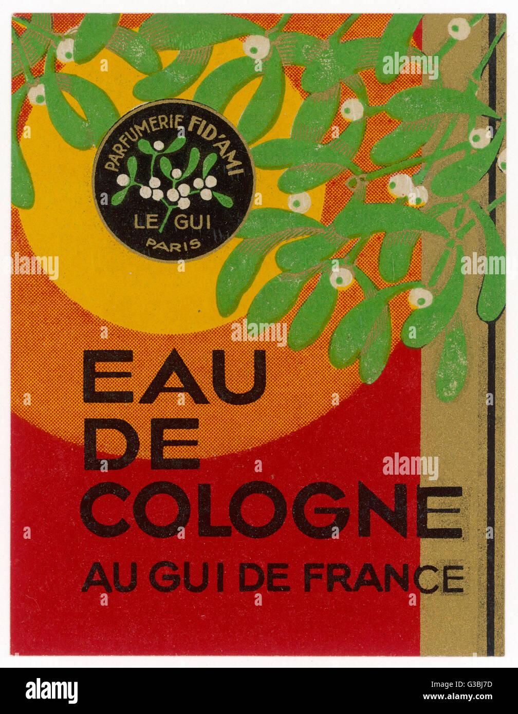 Eau de Cologne au gui de France - ma è in realtà costituito da vischio, o è che semplicemente il Immagini Stock